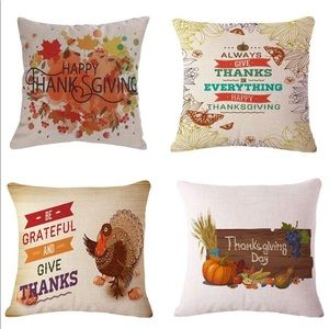 thanksgiving • fall accent pillow covers • 4pc set